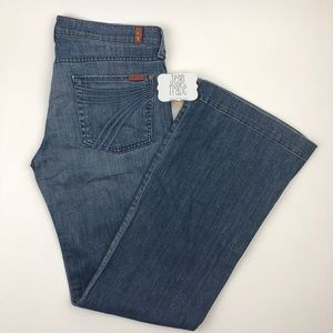 7 for all mankind flare jeans 32x34